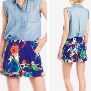Philosophy Tropical Floral Print Cuffed Shorts